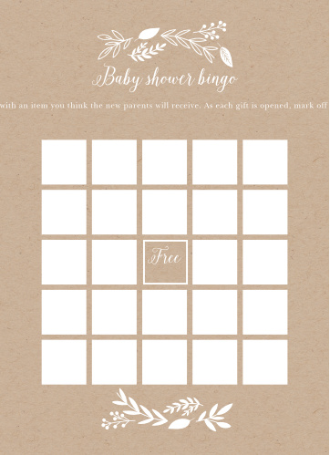 Our Petit Jardin Baby Shower Bingo is a perfect fit for your elegant baby shower.