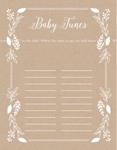Our Petit Jardin Baby Song Contest is a perfect fit for your elegant baby shower.