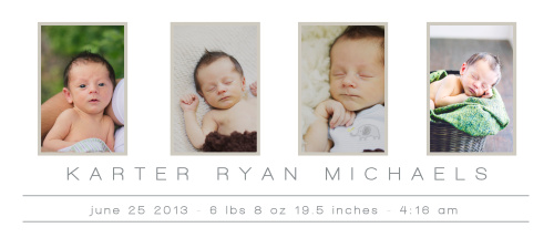 The Formal Photo is a gorgeously simple design that allows room for 4 photos.