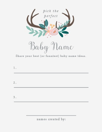 "Take notes from the crowd with our gorgeous Rustic Bouquet Baby Name Contest, their suggestions becoming your new top ten or going straight into the ""never use"" pile."