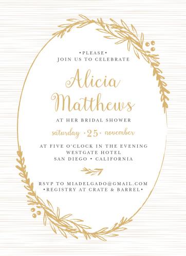 Bridal shower invitations wedding shower invitations basicinvite golden laurel bridal shower invitations filmwisefo