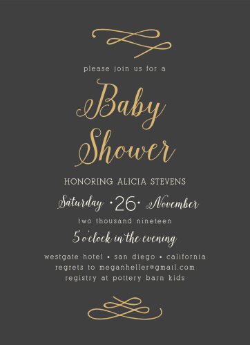 Enjoy the company of your friends and family when you use our Whimsically Modern Baby Shower Invitations to invite them.