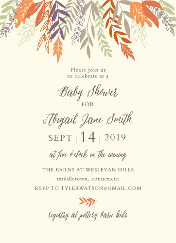Baby shower invitations 40 off super cute designs basic invite autumn harvest baby shower invitations filmwisefo