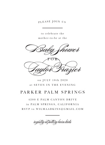 Enjoy the company of your friends and family when you use our Simple Contrast Baby Shower Invitations to invite them.