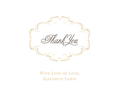 Thank all your supporters with our gorgeous Charming Flourish Baby & Bridal Thank You Cards.