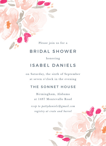 Bridal shower invitations wedding shower invitations basicinvite watercolor florals bridal shower invitations filmwisefo