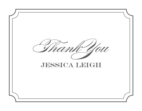 Thank all your supporters with our gorgeous Scripted Borders Baby & Bridal Thank You Cards.