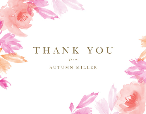 Make sure your guests know how much you appreciate them using the Airbrushed Rose Baby & Bridal Thank You Cards.