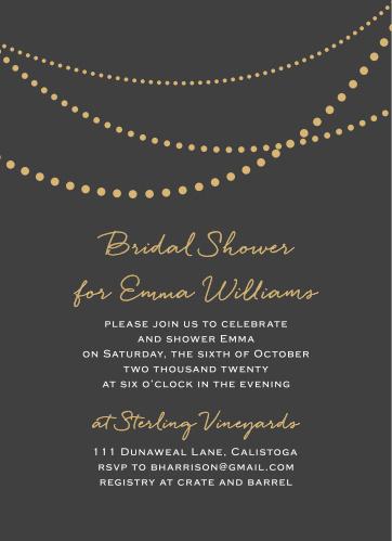 Bridal shower invitations wedding shower invitations basicinvite golden pearls bridal shower invitations filmwisefo
