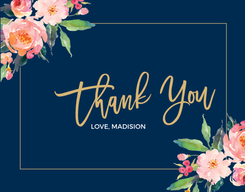 Flowered Frame Baby & Bridal Thank You Cards help you say everything you need to after your celebration. With a vintage style and the simplicity of a modern design, these cards are perfect for any occasion.