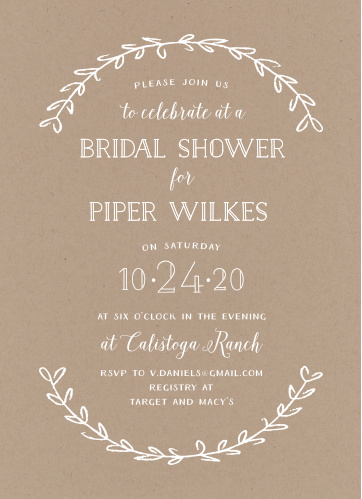 Bridal shower invitations wedding shower invitations basicinvite rustic laurel bridal shower invitations filmwisefo