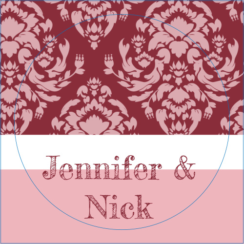 The Completely Centered logo square is the perfect finishing touch for this or any wedding invitation set.