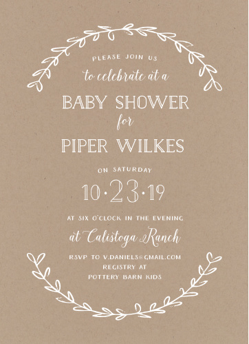 Baby shower invitations 40 off super cute designs basic invite rustic laurel baby shower invitations filmwisefo
