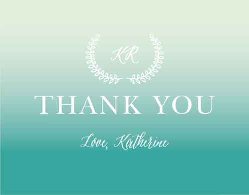 Thank all your supporters with our gorgeous Subtle Ombre Baby & Bridal Thank You Cards.