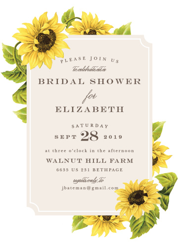 Sunflower bridal shower invitations match your color style free sunflower field bridal shower invitations filmwisefo