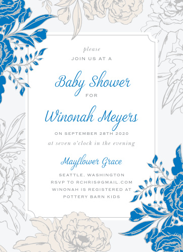 Your guests will adore the Blue Contrast Baby Shower Invitations once they receive them.