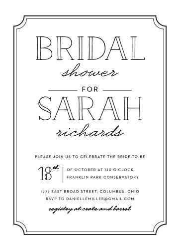 Bridal shower invitations wedding shower invitations basicinvite framed typography bridal shower invitations filmwisefo