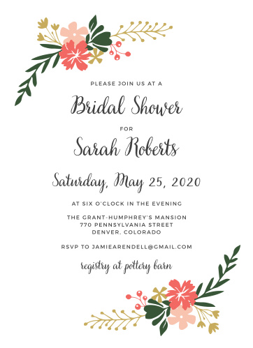 Bridal shower invitations wedding shower invitations basicinvite calligraphy flowers bridal shower invitations filmwisefo