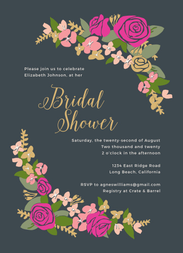 Spring bridal shower invitations match your color style free bright wreath bridal shower invitations filmwisefo
