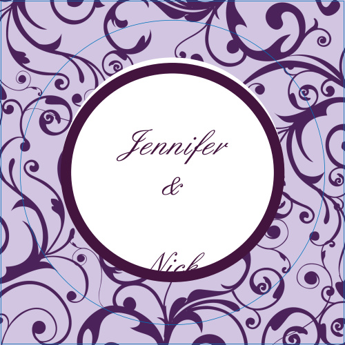 The Trendy Swirls logo square is the perfect finishing touch for this or any wedding invitation set.