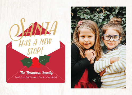 Our Santa's New Home Christmas Cards are the perfect way to let your friends and family know about your recent move!
