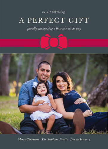 Our Perfect Gift Christmas Cards lets your friends and family know what was on the top of your list this season.