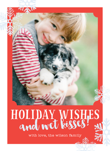 wishes kisses holiday cards - Dog Holiday Cards