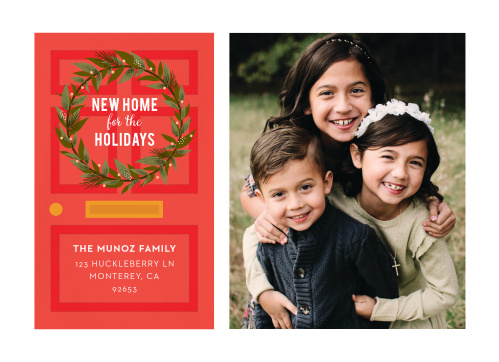 The Our New Home Christmas Cards are an excellent way to greet your loved ones this holiday season, as well as announce your recent move.