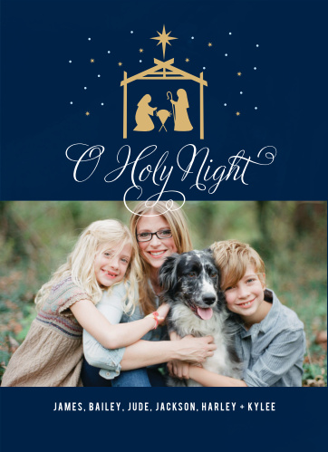 Our Golden Nativity Christmas Cards are a star-filled delight.