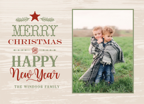 country star christmas cards - Rustic Christmas Cards