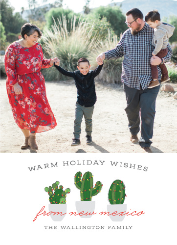 Spread the south-western holiday spirit with our Cactus Lights Christmas Cards.