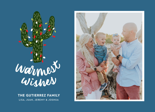 Spread the spirit of Christmas with a desert twist with our Desert Cactus Christmas Cards.