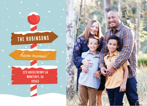 Our festive New Address Christmas Cards are perfect to let your friends and family know you moved this holiday season.