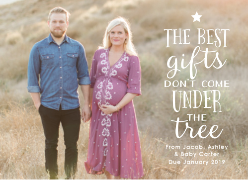 Our Pregnancy Gift Christmas Cards show your appreciation for your newborn this holiday season.