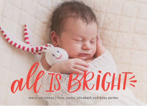 Bright Baby Christmas Cards gives our baby the spotlight this holiday season.