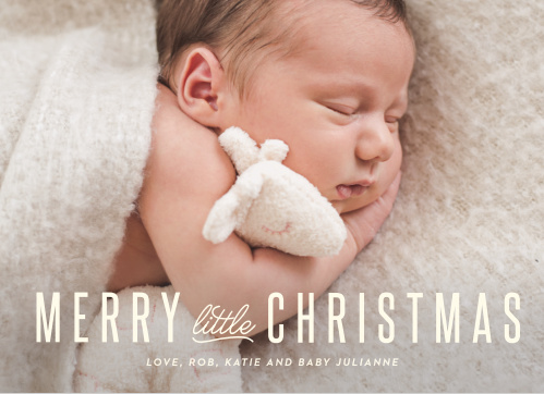 Our New Baby Christmas Cards let your baby take front and center this holiday season.