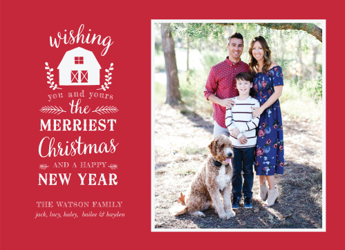Our Farm House Christmas Cards have a classic rustic feel that everyone will admire.