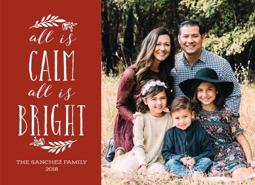 calm bright christmas cards - Rustic Christmas Cards