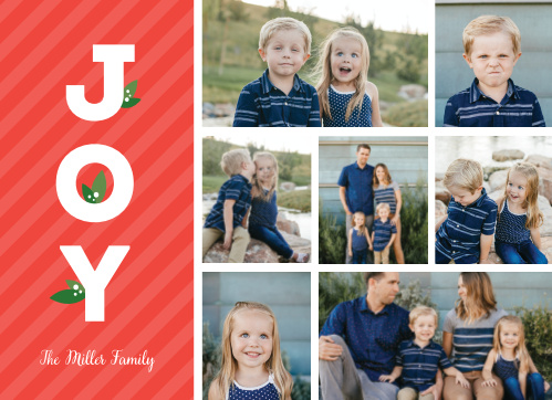 Spread the joyful spirit of the holidays with our Happy Joy Holiday Cards.