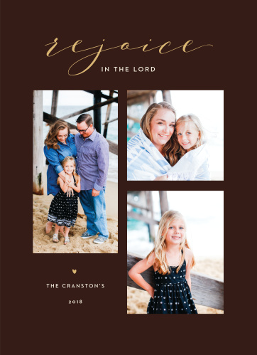 Our Modern Religious Christmas Cards are humble and let your family and your faith be the focus.