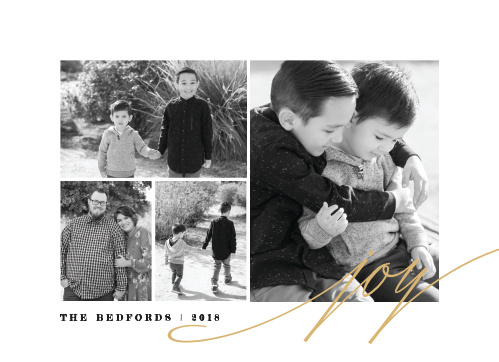 Our Golden Collage Christmas Cards are clean and modern, with a splash of gold.