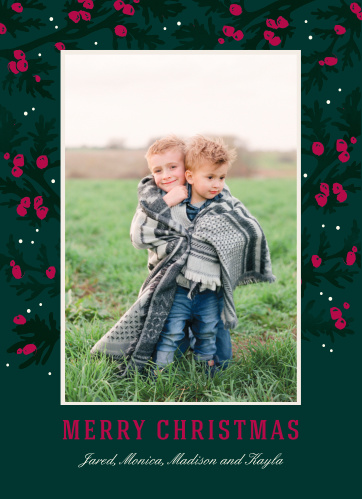 Our beautiful Traditional Evergreen Christmas Cards are as classically Christmas-oriented as they come.