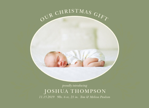 Send the gift of love to your friends and family with our Newborn Watercolor Christmas Cards!