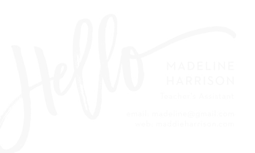 brushstroke hello clear business cards - Fancy Business Cards