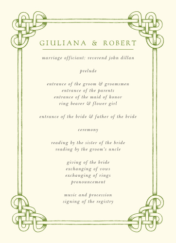 Our Celtic Knot Wedding Programs are a perfectly charming way to make your wedding a memorable experience.