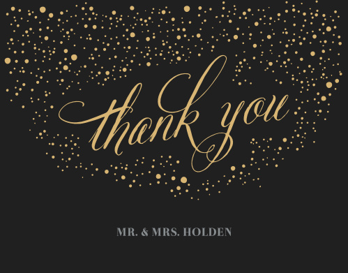 Our Gothic Halloween Wedding Thank You Cards are reminiscent of an eerie October evening.