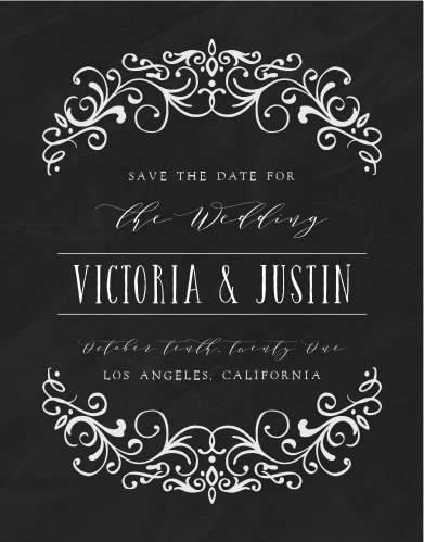 Our Gothic Magic Save-the-Date Magnets are the epitome of moody elegance.
