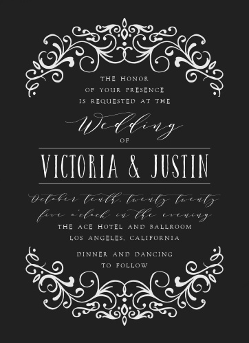 Our Gothic Magic Wedding Invitations are the epitome of moody elegance.