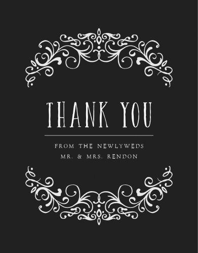 Our Gothic Magic Wedding Thank You Cards are the epitome of moody elegance.