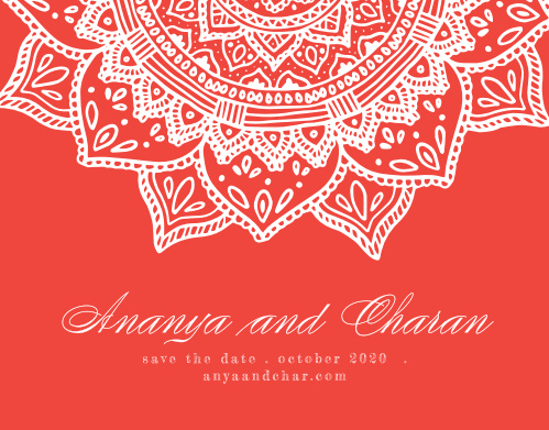 Your guests will fall in love with our Indian Mandala Wedding Invitations.